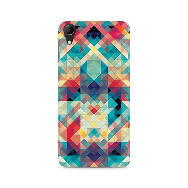 Ek Number Abstract Criss Cross Premium Printed Case For HTC Desire 728