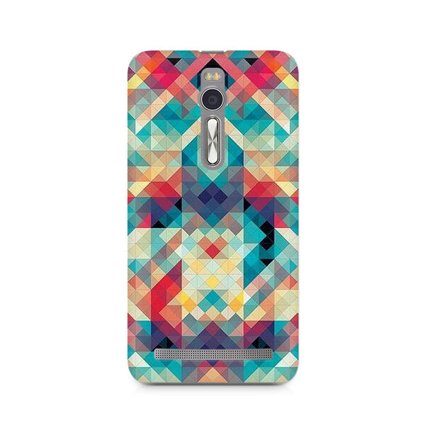Ek Number Abstract Criss Cross Premium Printed Case For Asus Zenfone 2