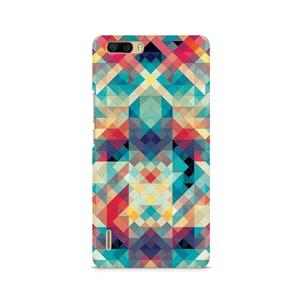 Ek Number Abstract Criss Cross Premium Printed Case For Huawei Honor 6 Plus