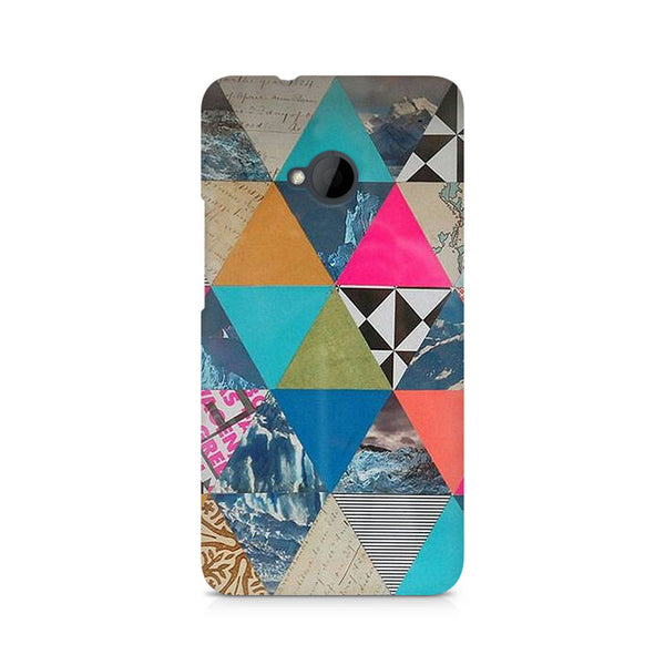 Ek Number Abstract Fusion Hex Premium Printed Case For HTC One M7