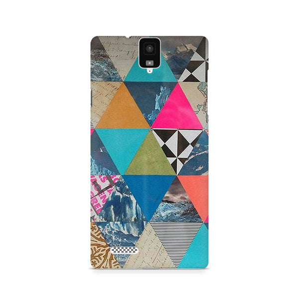Ek Number Abstract Fusion Hex Premium Printed Case For InFocus M330