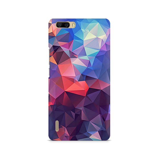 Ek Number Abstract Fusion Triangle Premium Printed Case For Huawei Honor 6 Plus