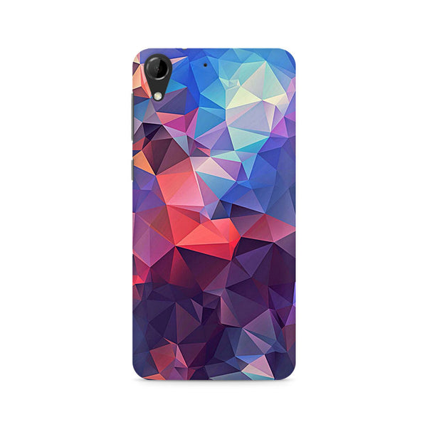 Ek Number Abstract Fusion Triangle Premium Printed Case For HTC Desire 728
