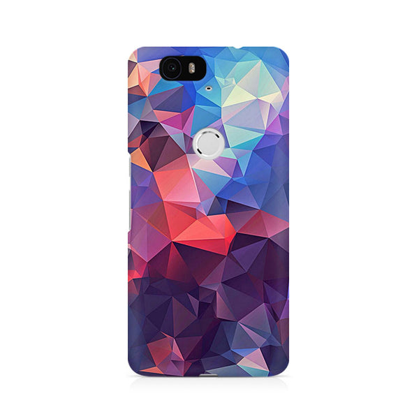 Ek Number Abstract Fusion Triangle Premium Printed Case For Huawei Nexus 6P