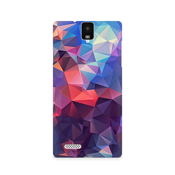 Ek Number Abstract Fusion Triangle Premium Printed Case For InFocus M330