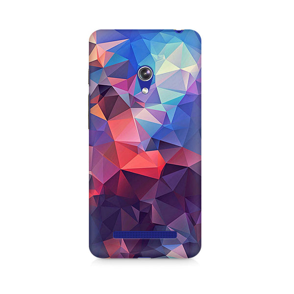 Ek Number Abstract Fusion Triangle Premium Printed Case For Asus Zenfone Go
