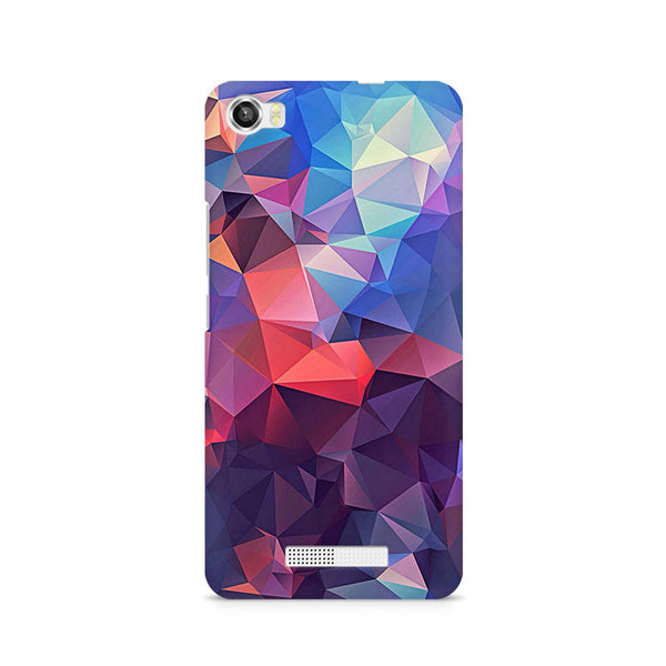 Ek Number Abstract Fusion Triangle Premium Printed Case For Lava Iris X8