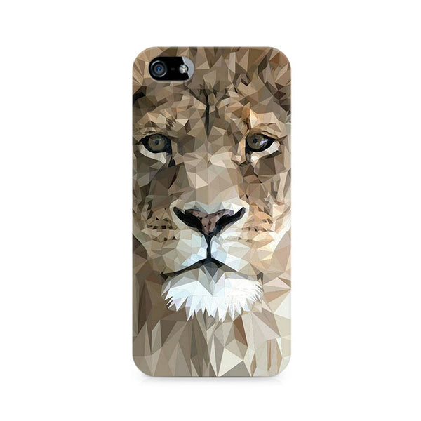 Ek Number Abstract Lion Premium Printed Case For Apple iPhone 5/5s
