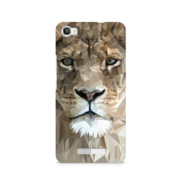 Ek Number Abstract Lion Premium Printed Case For Lava Iris X8