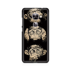 Ek Number Three Wise Monkeys Premium Printed Case For LeEco Le 2