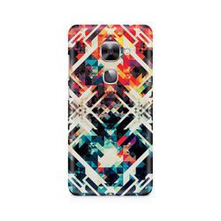 Ek Number Two Square Abstract Premium Printed Case For LeEco Le 2