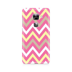 Ek Number Yellow And Pink Broad Chevron Premium Printed Case For LeEco Le 2