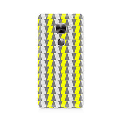 Ek Number Yellow and White Cards Premium Printed Case For LeEco Le 2