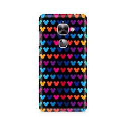 Ek Number Mickie Mulitcolor on Black Premium Printed Case For LeEco Le 2