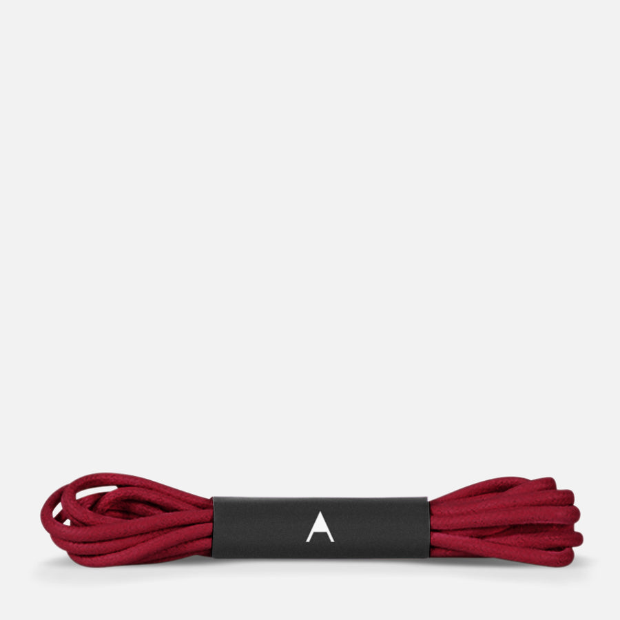 Burgundy shoelaces by Julia Bo