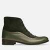 green boots for women leather