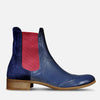 Blue Chelsea Boots Womens by Julia Bo - Custom Made Boots