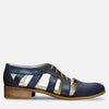 cut out oxford shoes blue leather