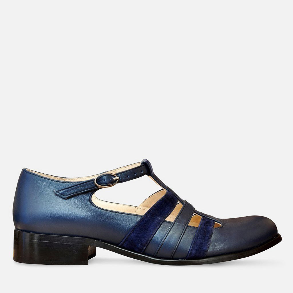 Navy Blue Mary Jane Shoes by Julia Bo