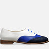 Women's Shoes Flats Oxfords Blue Leather Blue Leather