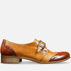 Women's Monk Strap Shoes Brown Leather by Julia Bo