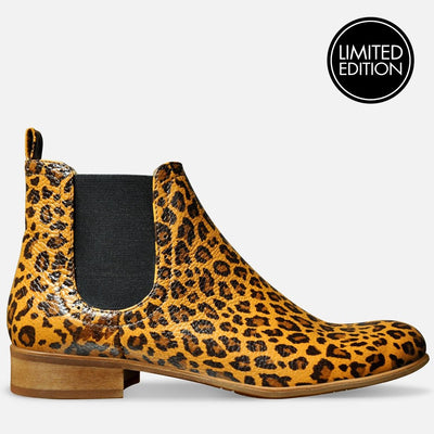 Leopard Print Boots by Julia Bo Handmade Shoes & Boots
