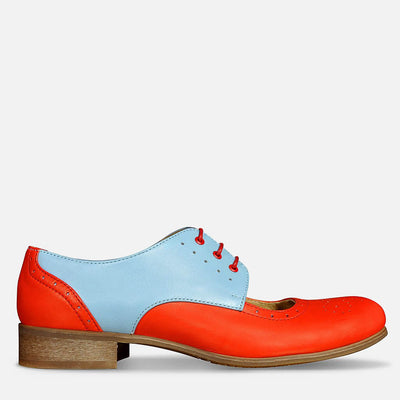 cut out oxfords red by julia bo