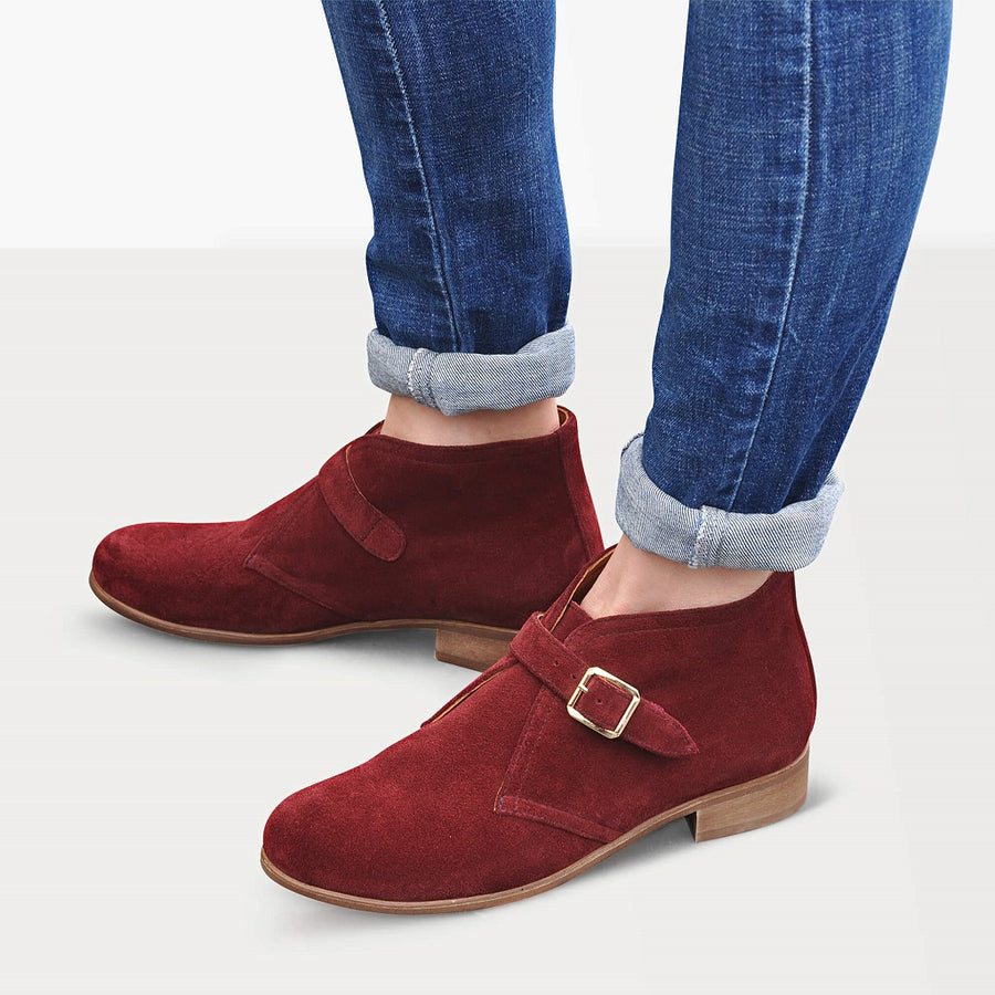 Monk strap chukka boots by Julia Bo