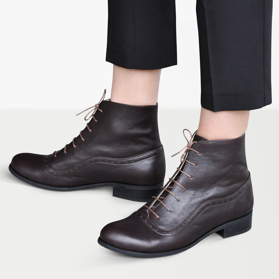 Oxford ankle boots womens