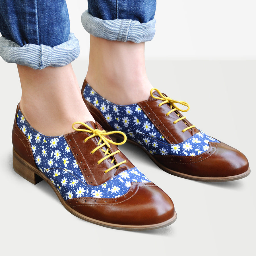 floral oxford shoes by julia bo