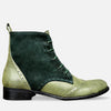 green lace up boots leather women