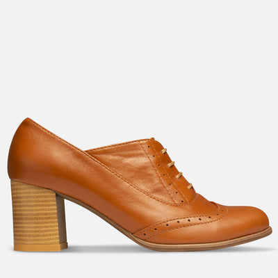 Heeled oxford shoes womens | Handmade by Women Artisans | Julia Bo