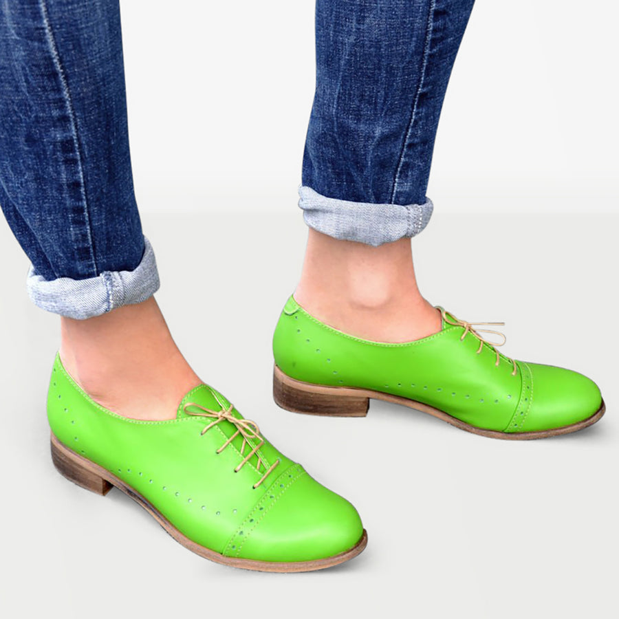 Green Shoes Women Leather by Julia Bo