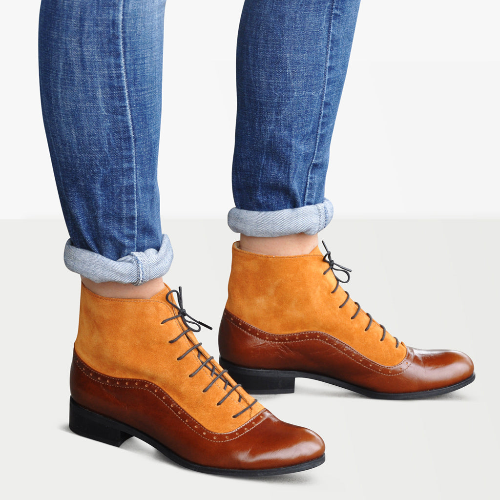 Cottagecore Clothing, Soft Aesthetic Armada - Oxford Boots $160.00 AT vintagedancer.com
