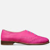 pink oxford shoes leather