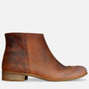 Women's Brown Leather Ankle Boots by Julia Bo | Custom Made Boots