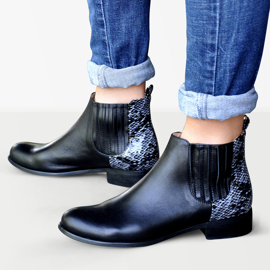 Black Chelsea Boots Women Julia Bo Custom Made Shoes & Boots