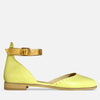 Women's closed toe leather sandals yellow leather by Julia Bo