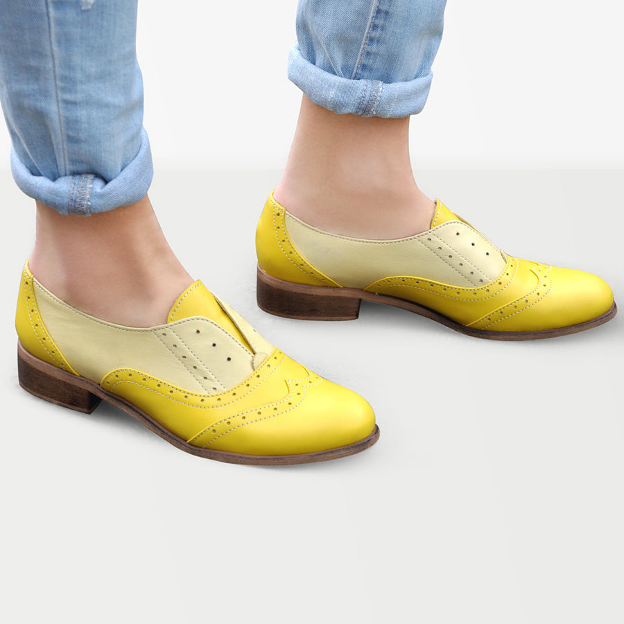 Yellow Slip On Shoes | Julia Bo - Women's Custom Oxford Shoes & Boots