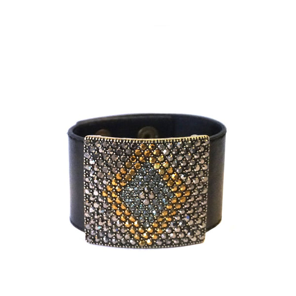 Leather Statement Cuff by Marlyn Schiff