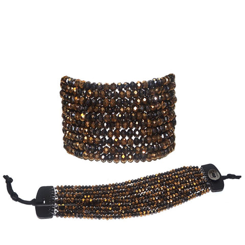 Crystal Beaded Bracelet by Marlyn Schiff