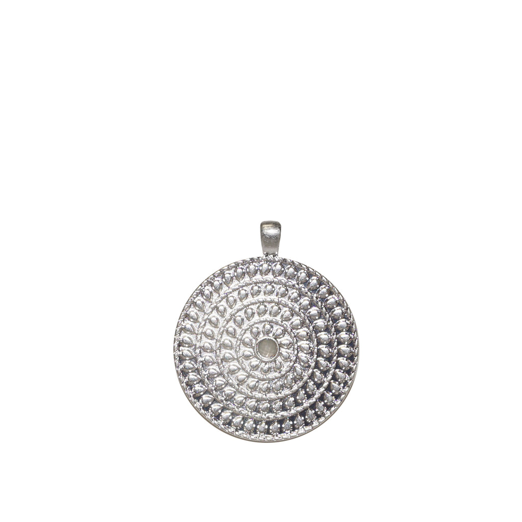 Embossed Disc Charm by Marlyn Schiff