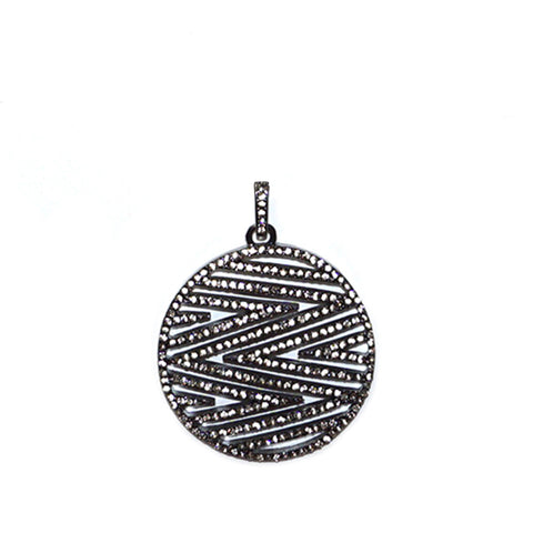 Pave Zig Zag Charm by Marlyn Schiff