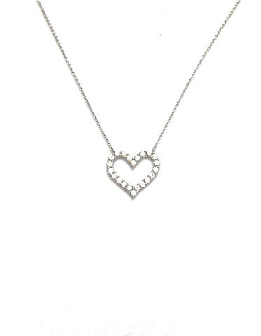 Classic Heart Necklace - Onyx and Blush  - 1