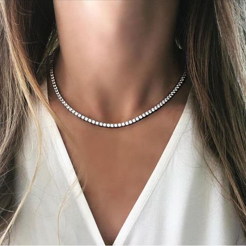 """Diamond"" Tennis Necklace"