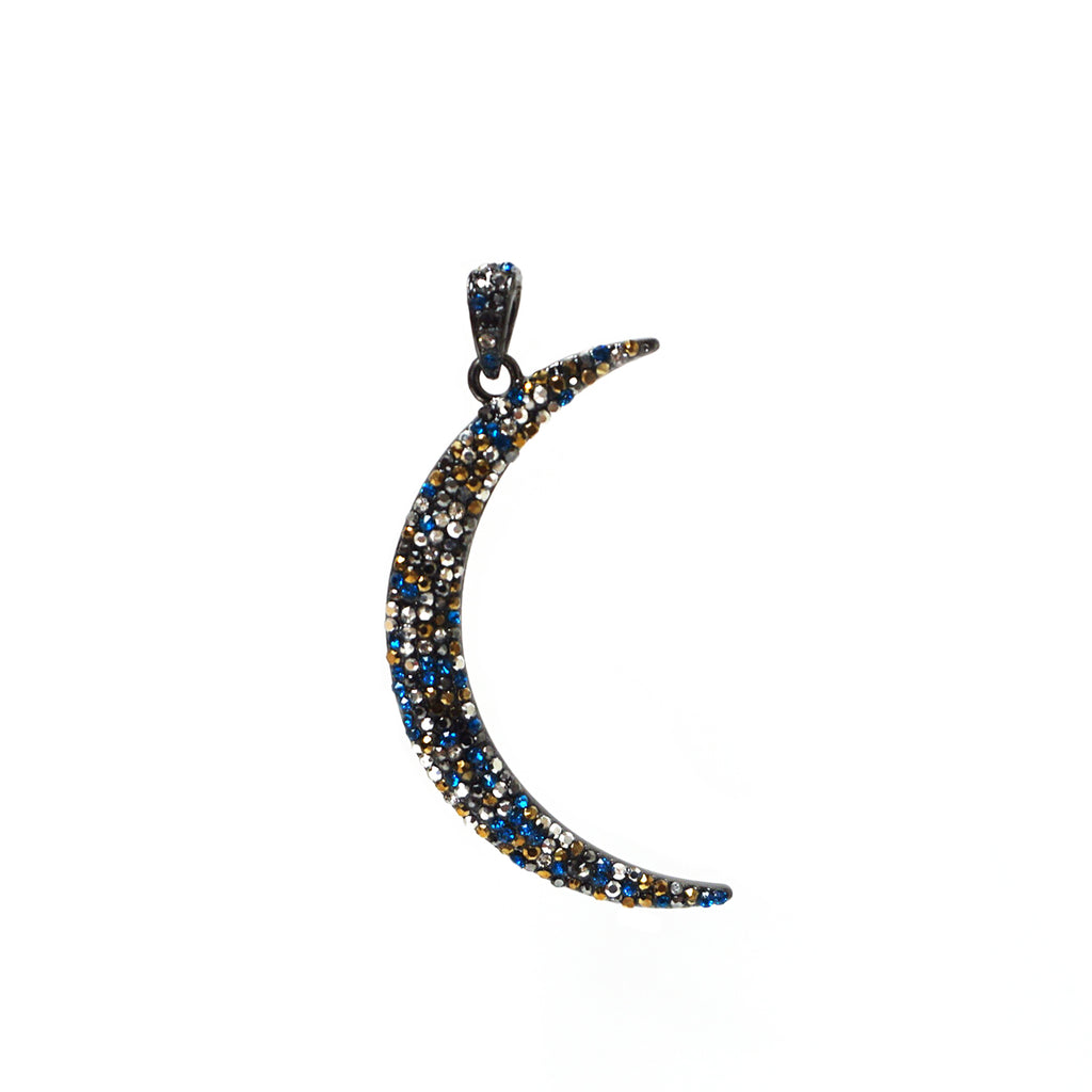Pave Moon Charm by Marlyn Schiff