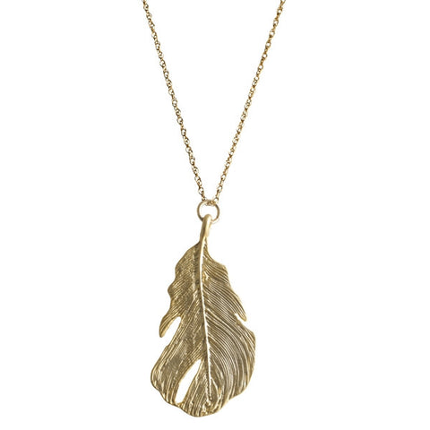 Matte Gold Large Leaf - Onyx and Blush