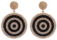 """Onyx & Blush"" Large Swirl Earrings - Onyx and Blush  - 1"