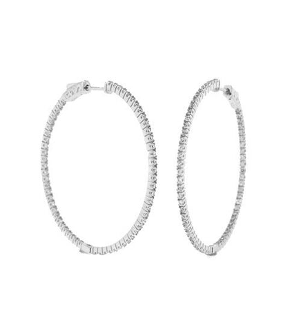 Large Pave In/Out Hoops - Onyx and Blush  - 1