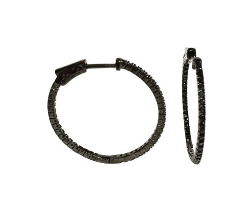Small Pave In/Out Hoops (STERLING)